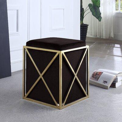 Ayoub Cube Ottoman Upholstery: Black