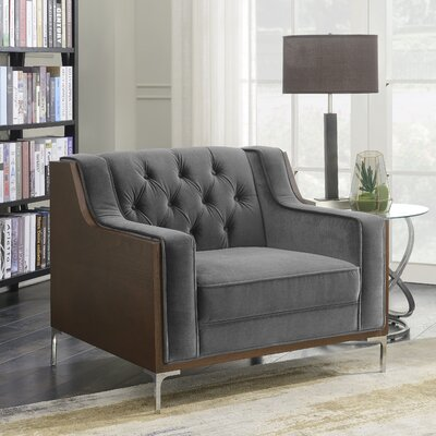 Daum Armchair Upholstery: Gray