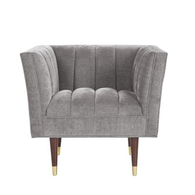 Brooke Accent Arm Chair Upholstery: Gray