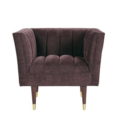 Brooke Accent Arm Chair Upholstery: Purple