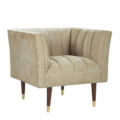 Brooke Accent Arm Chair Upholstery: Gold