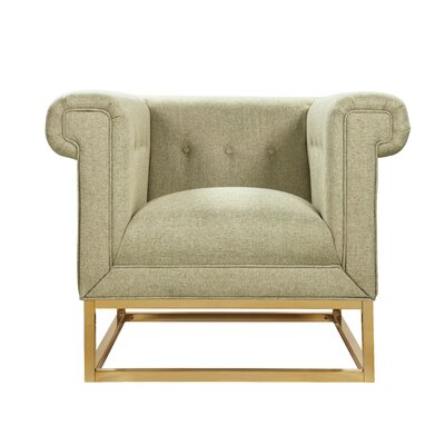 Dollman Accent Club Chair Upholstery: Beige