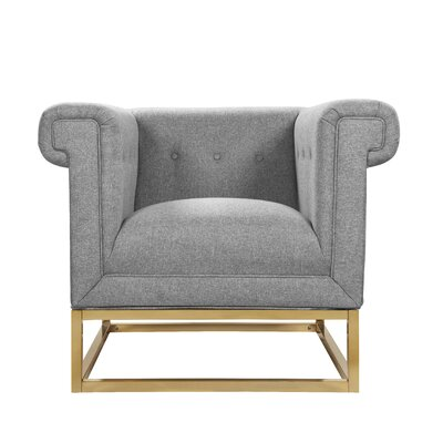 Dollman Accent Club Chair Upholstery: Gray