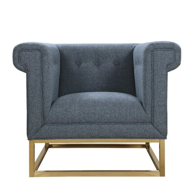 Dollman Accent Club Chair Upholster: Blue