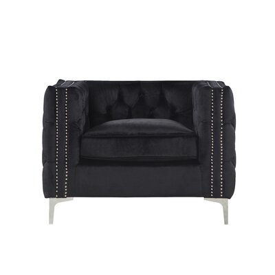 Robertson Accent Armchair Color: Black