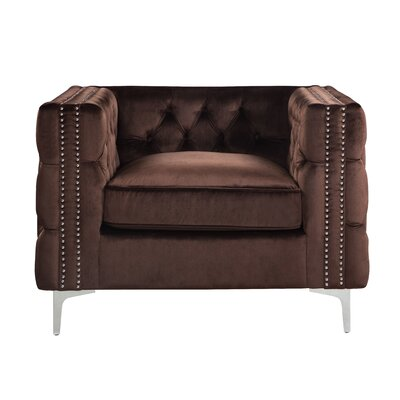 Robertson Accent Armchair Color: Brown
