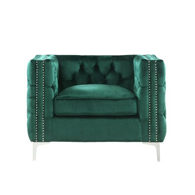 Robertson Accent Armchair Color: Green