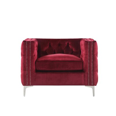 Robertson Accent Armchair Color: Red