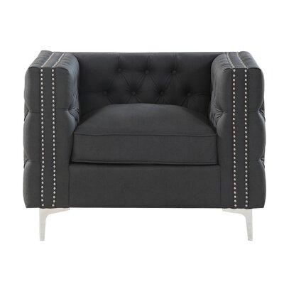 Marlon Armchair Upholstery: Black