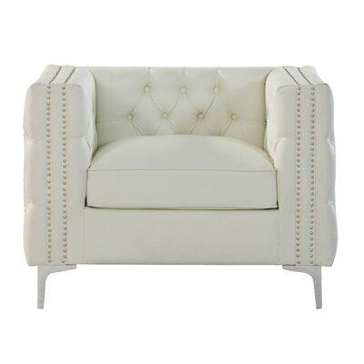 Marlon Armchair Upholstery: Cream