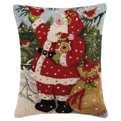 1 Vintage Santa Hook Pillows Finish: Snowy Santa