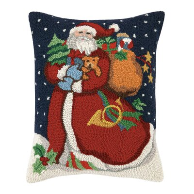 1 Vintage Santa Hook Pillows Finish: Santa with Dog
