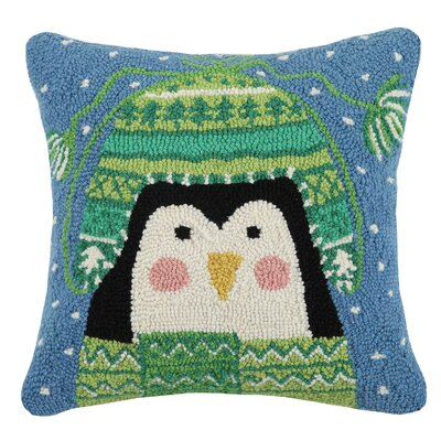 Sweater Penguin Hook Wool Throw Pillow