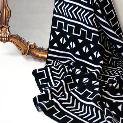 Mali Throw Blanket Color: Black