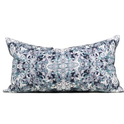 Vienna Linen Lumbar Pillow Color: Indigo