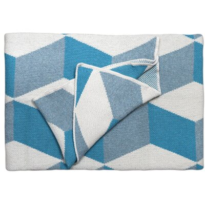 Taormina Throw Blanket Color: Azure
