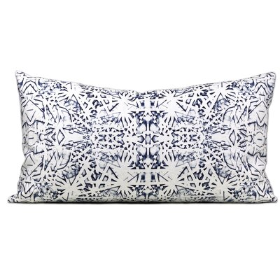 Tartu Linen Lumbar Pillow Color: Indigo