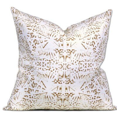Tartu Linen Throw Pillow Color: Oro