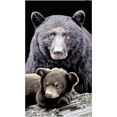 Bear and Cub Endangered Wildlife Beach Towel