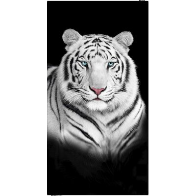 Tiger Face Endangered Wildlife Beach Towel