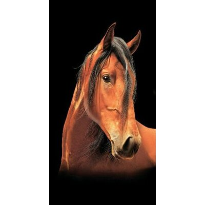 Horse Portrait Secretariat Beach Towel