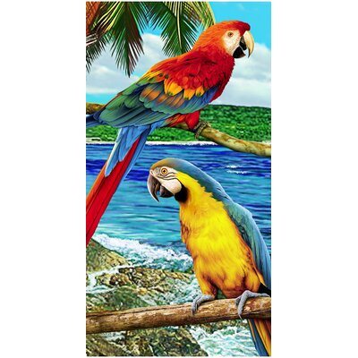 Amazon Mackaw Endanger Wildlife Beach Towel