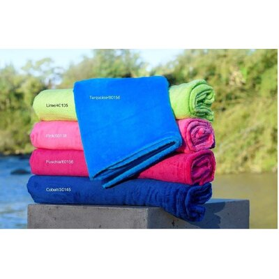Premium Cotton Brazilian Velour Bath Sheet (Set of 3) Color: Fuschia
