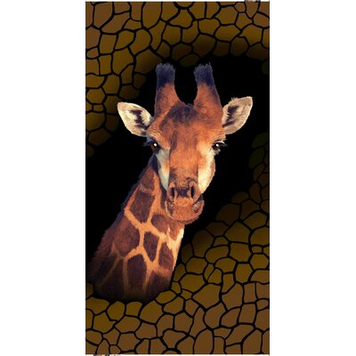 Giraffe Fantasy Endangered Wildlife Beach Towel