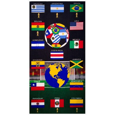 Soccer Football Attack Americas 100% Cotton Beach Towel