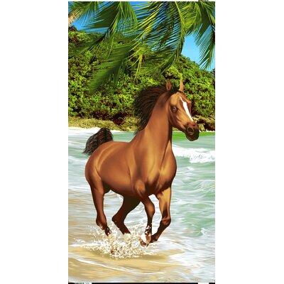 Horse Family Secretariat Beach Towel