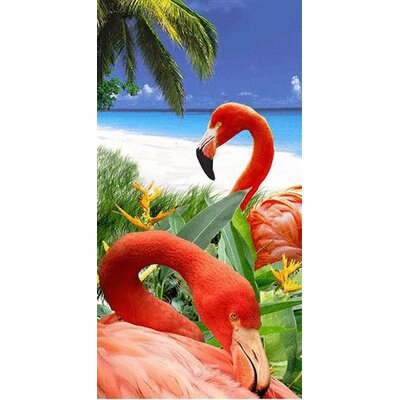 Flamingo Fantasy Endanger Wildlife Beach Towel