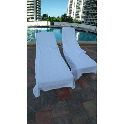 Terry Chaise Lounge Cover Color: White