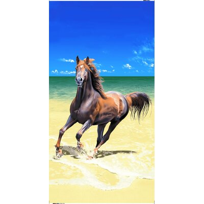 Horse Family Secretariat Beach Towel