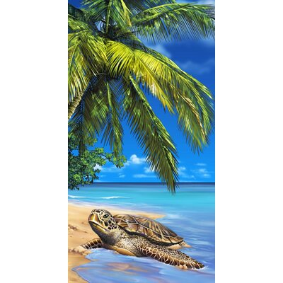 Turtle Endangered Beach Towel