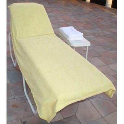 Terry Chaise Lounge Cover Color: Light Yellow