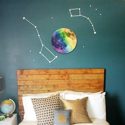 Alethia Glow Moon Wall Decal Color: Colorful