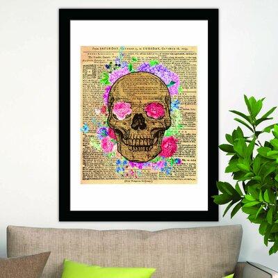 Alderamin Flowery Skeleton Wall Decal