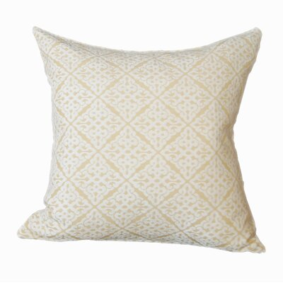 Chenille Jacquard Throw Pillow Color: Yellow