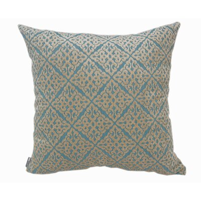 Chenille Jacquard Throw Pillow Color: Turquoise
