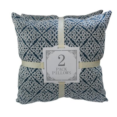 Chenille Jacquard Throw Pillow Color: Ocean
