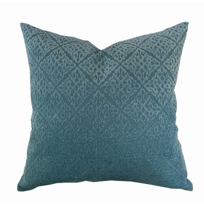 Chenille Jacquard Throw Pillow Color: Spa