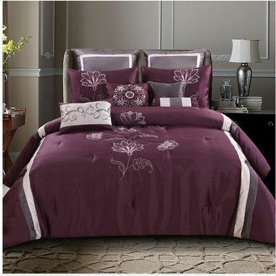 Norristown 10 Piece Comforter Bed Set Size: Full