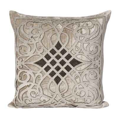 Laser-Cut Velvet Throw Pillow
