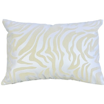 Flocked Lumbar Pillow Color: Ivory/White