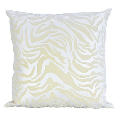 Flocked Throw Pillow Color: Ivory/White