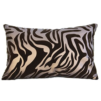 Flocked Lumbar Pillow Color: Brown