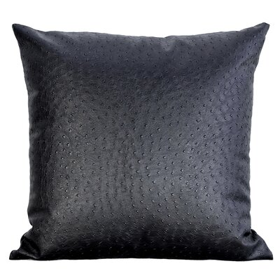 Ostrich-Textured Faux Leather Throw Pillow Color: Chocolate Brown
