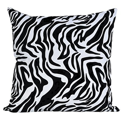 Flocked Throw Pillow Color: Black/White