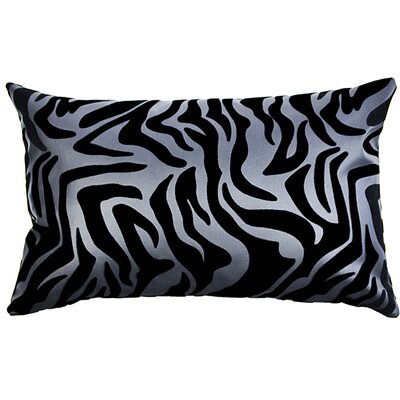 Flocked Lumbar Pillow Color: Black