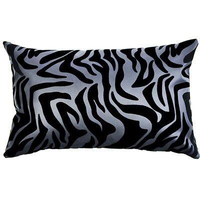 Flocked Lumbar Pillow Color: Black